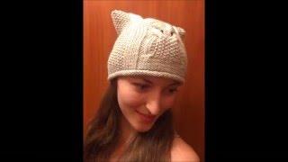 Шапка сова.Шапка кошка+шапка с ушками.Часть 1.Узор сова.Шапка СОВА спицами.Шапка спицами женская.(Шапка СОВА-полное описание в 2-х частях.Вязаные шапки - всегда в тренде.В этом видео уроке-вы увидите как..., 2016-02-03T12:29:17.000Z)