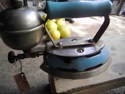 Plancha de gasolina gas iron coleman antigua no - Planchas para cocinar a gas ...