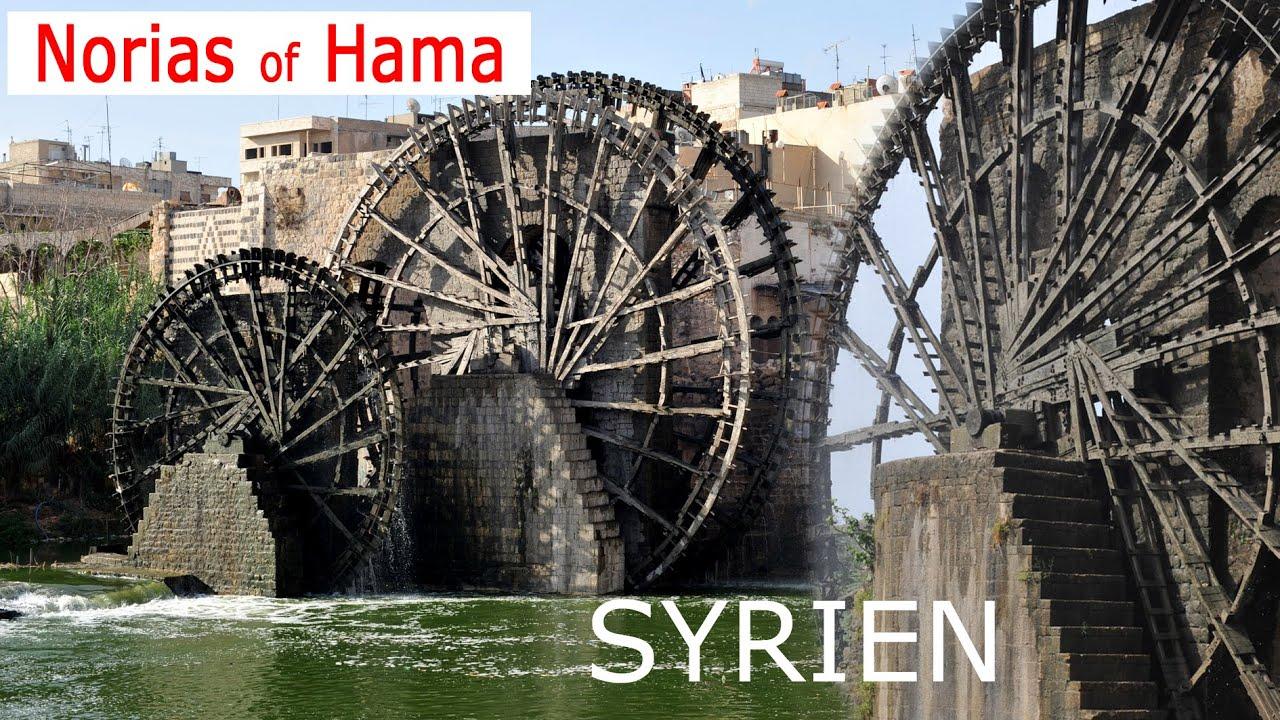 Bildergebnis für wasserräder hama syrien