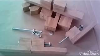 Применение обрезков щитов...- приспособление для склейки деталей по длине