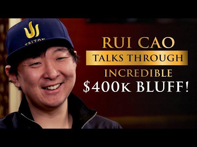 Rui Cao Talks Through Incredible USD $400k Bluff with 10 High!