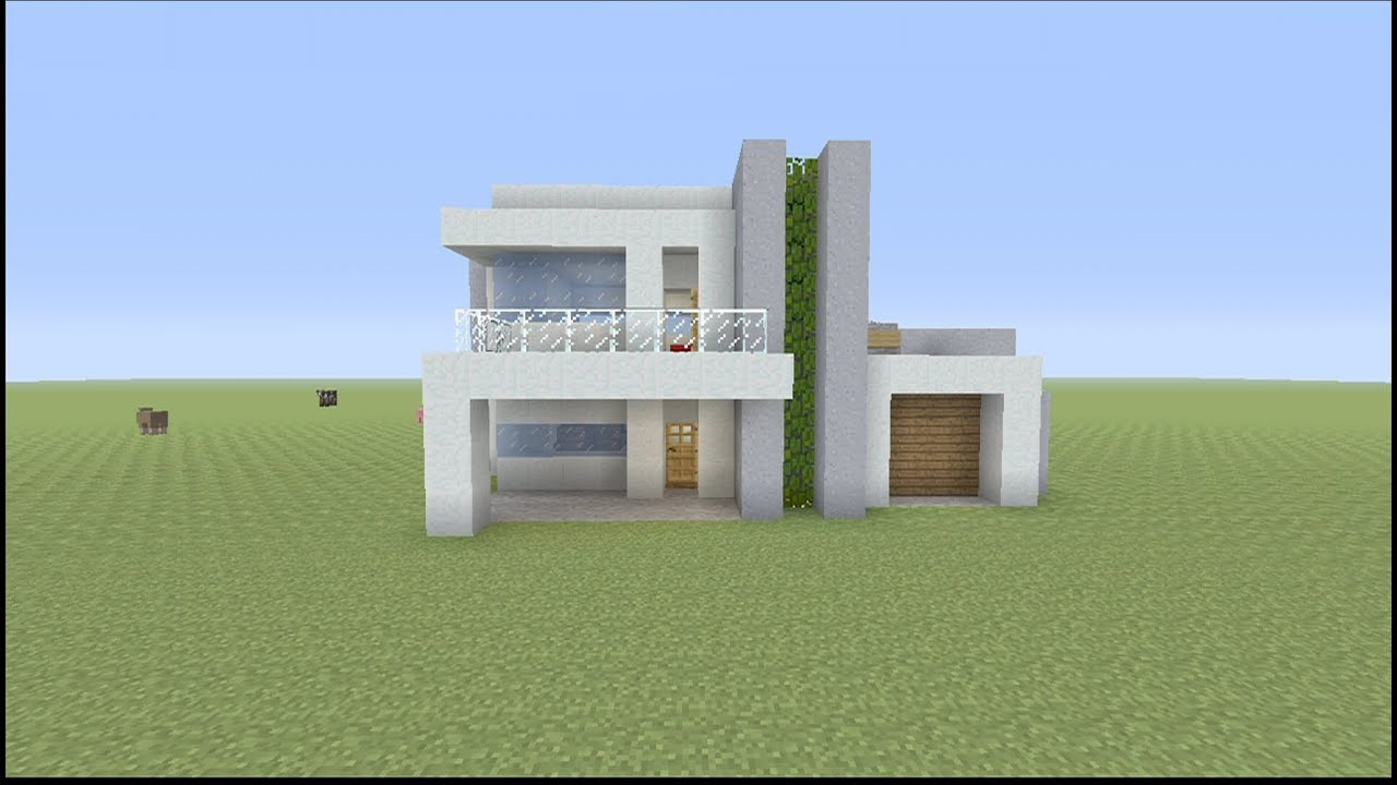 How to build a small modern house in minecraft youtube for Modern house mc