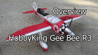 HobbyKing Gee Bee R3 1400mm Epo Overview
