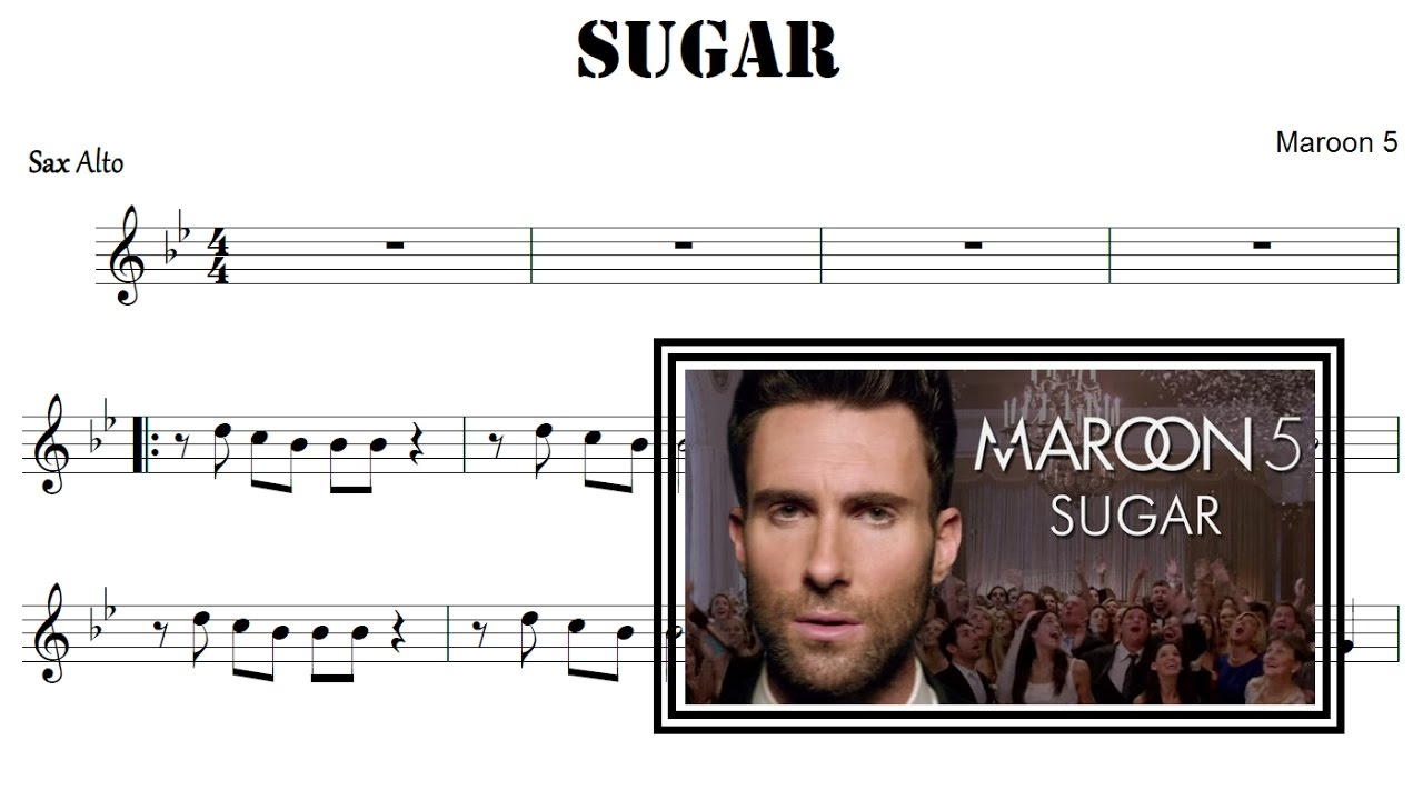 maroon 5 sugar piano sheet music pdf