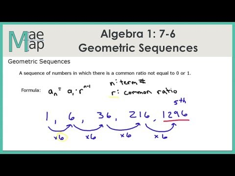 Algebra1: 7-6 Geometric Sequences - YouTube