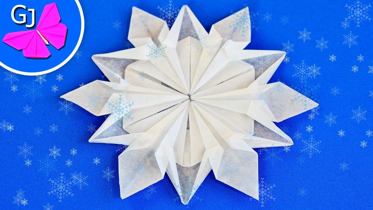 Как сделать снежинки оригами на новый год фото 327