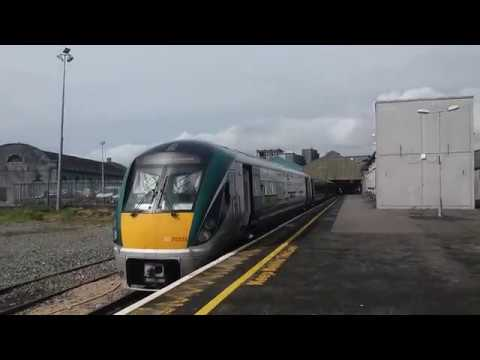 Boarding the Galway-Dublin train at Galway's Ceannt Station