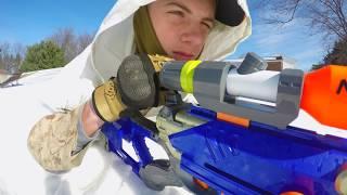 Nerf War : Snow Sniper | In 4K