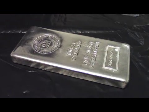 100 Ounce Royal Canadian Mint Silver Bar