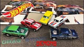 HOT WHEELS 2018 - DRAG STRIP DEMONS - Car Culture - Open - Review- RACE - WOW!!