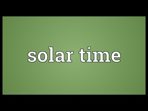 Solar time Meaning