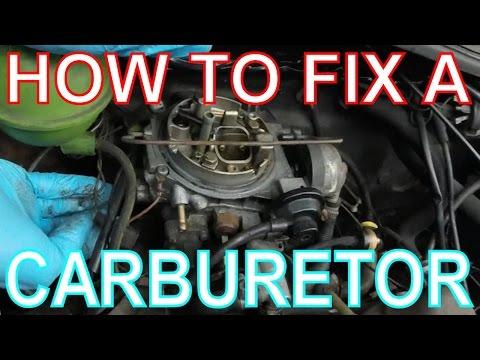 How to Fix a Carburetor. High Revving Carb/Engine. VW Golf Mk2.