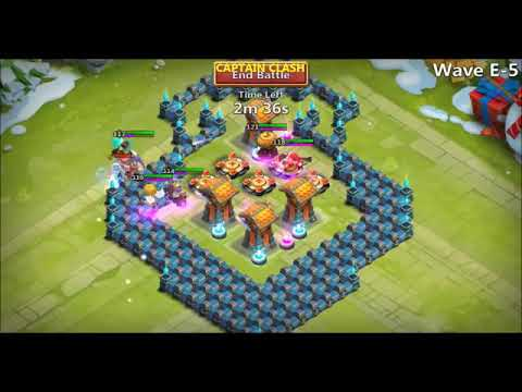 Castle Clash Town Hall 14 HBM Defense Base Design ● TH14 Corner Base Replays An