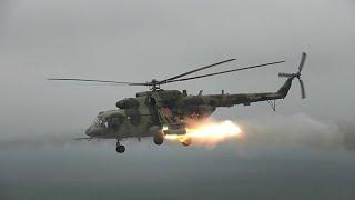 Экипажи Ми-35, Ми-8 и Ми-28 уничтожили технику «противника» в Ленобласти