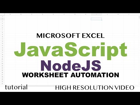 Excel Macros with JavaScript & Node JS - Read Excel File to JSON, Modify & Write Back to Excel thumbnail