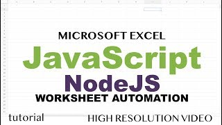 Excel Macros with JavaScript & Node JS - Read Excel File to JSON, Modify & Write Back to Excel