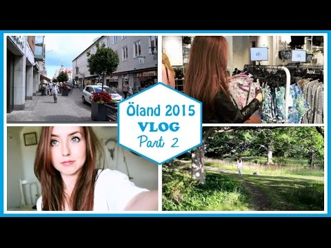 Öland VLOG Part 2 | Shopping in Kalmar, Haul & Evening walk