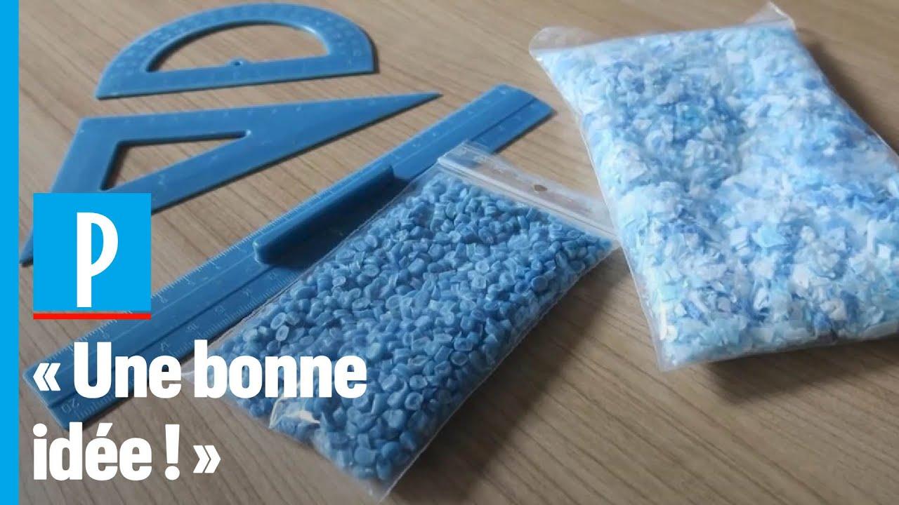 A Meudon, les masques usagés sont recyclés en fournitures scolaires