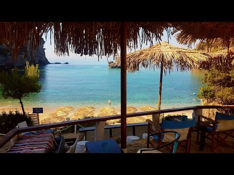 4K Alonaki beach near Parga Greece. Summer 2017