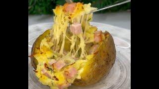 Домашняя крошка картошка с сыром и ветчиной рецепт Shorts