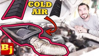 DIY Cold Air Intake Scoop on the Comanche