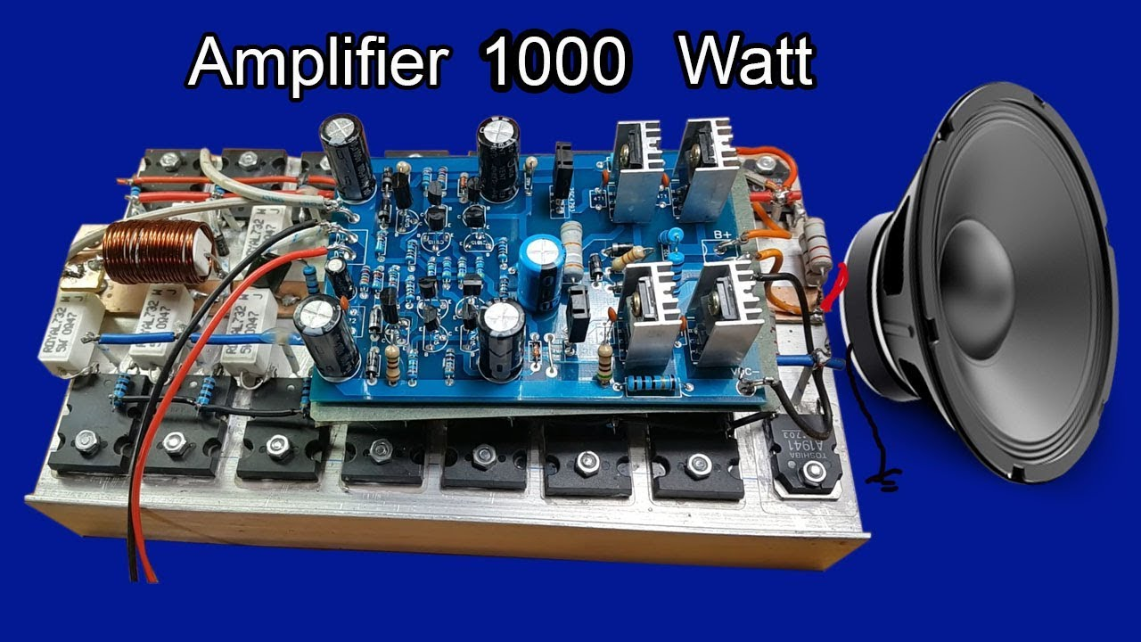 How To Make Audio Power Amplifier W Circuit