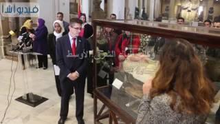 بالفيديو : مؤتمر صحفى لترميم  توابيت المتحف المصرى
