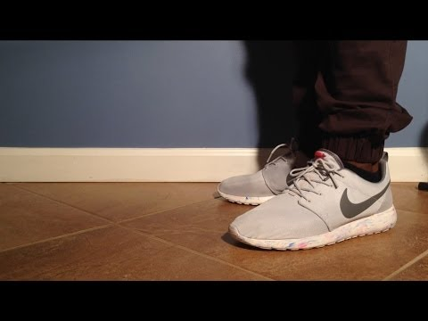 "reebok easytone d cathlon - Pure Platinum"" Marble Roshe QS W/ On-Feet Review - YouTube"