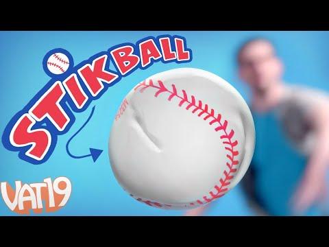 STIKBALL: The Squishy, Sticky Indoor Baseball