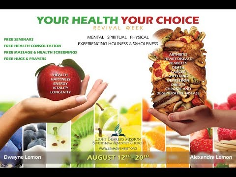 Tuesday's Health Program- Elder D. Lemon - 8/15/2017