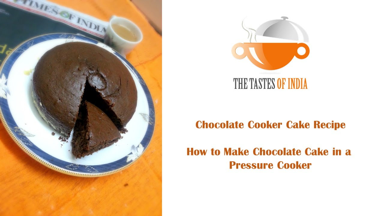 Eggless Chocolate Cake Recipe in Pressure Cooker - YouTube