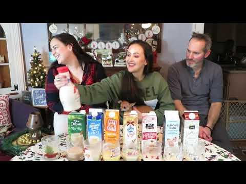 Vegan Eggnog Taste Test & Review / Vlogmas Day 8