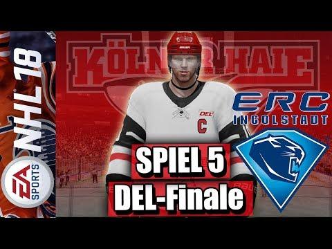 ERC Ingolstadt - Kölner Haie (Playoffs: Finale Spiel 5) | NHL 18 DEL Saison #069