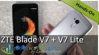 ZTE Blade V7 + V7 Lite: Hands-on Video of the Alu Androids – Review