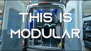 This Camper Van is SO Modular!! -- VanDOit built on the Ford Transit