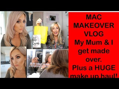 Come shopping with us. Mac make over & HUGE beauty haul!