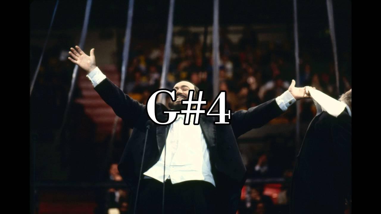 luciano pavarotti vocal range in one minute