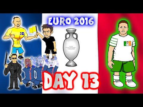 Euro 2016: Day 13! (Italy vs Ireland  0-1)(Iceland vs Austria 2-1)(Sweden vs Belgium 0-1)