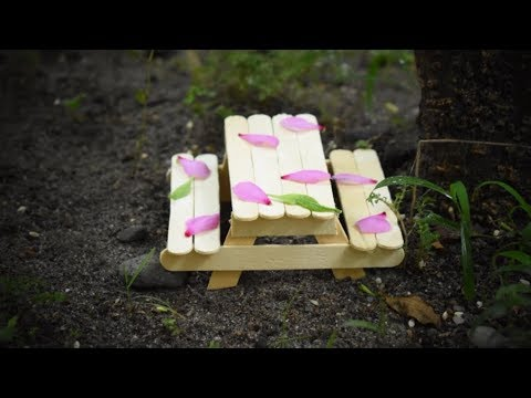 How To Make Popsicle Stick Bench For Home Decor And Garden Decor