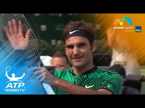Federer, Del Potro set up heavyweight clash | Miami Open 2017 Highlights Day 4