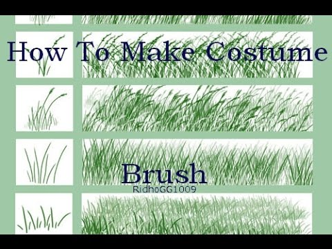 how to make costume brush medibang paint grass youtube