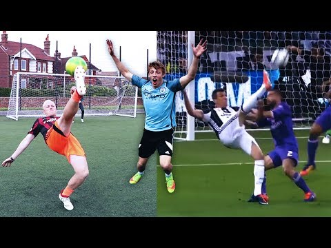 BICYCLE KICK FOOTBALL CHALLENGE VS W2S & CHARLIE MORLEY