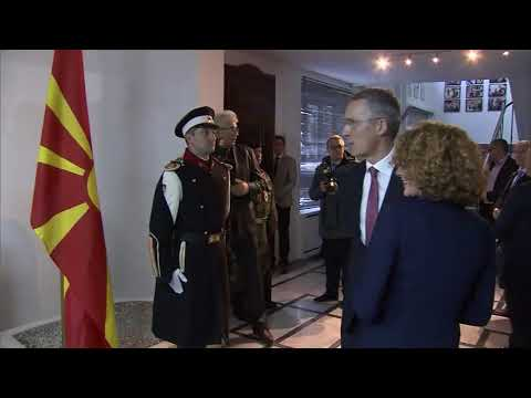 NATO Secretary General Bilateral Meeting with Minister of Defense of the Republic of Macedonia