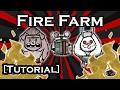 DON'T STARVE GUIDE - FIRE FARM - BEST MEAT FARM (TUTORIAL)