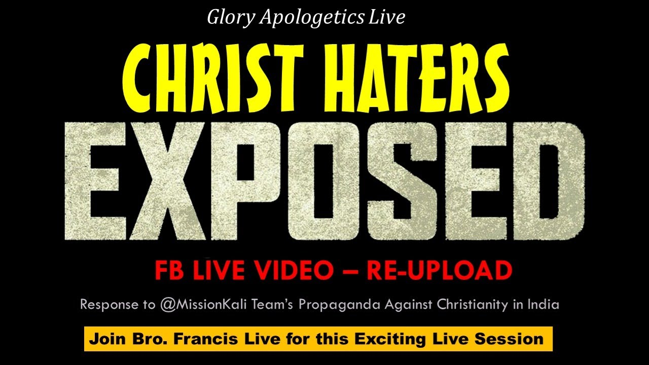 Exposing Christ Haters - FB Live (RE_UPLOAD)