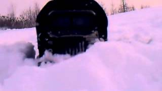 УРАЛ зимой по бездорожью, военная техника России