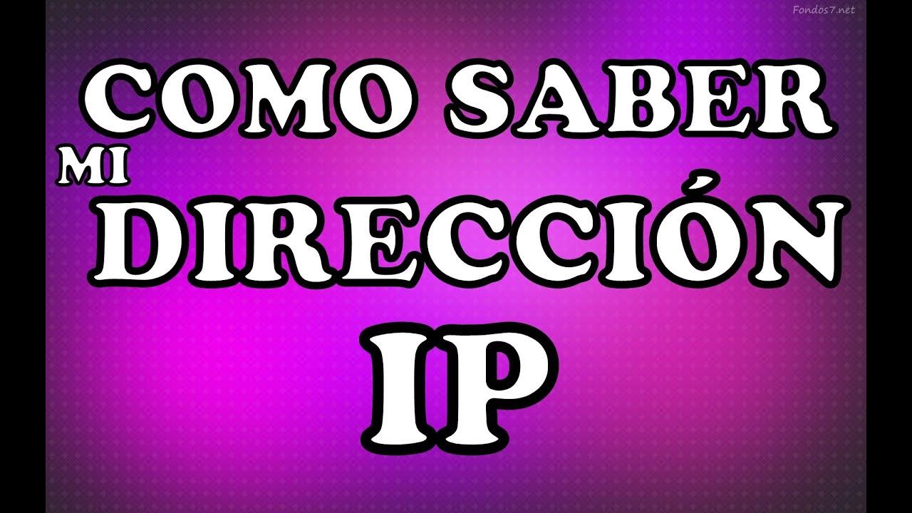 Como Saber La Direccion Ip De Mi Pc Como Saber La IP de