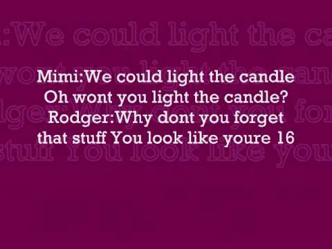 Light My Candle - Rent - Lyrics