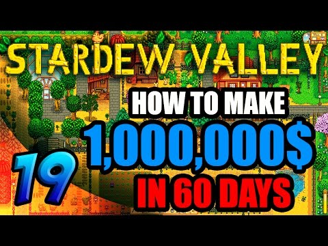 1,000,000$ 60 DAY CHALLENGE; DAY 36-37; More Crazy Russian Farming! Stardew Valley Gameplay