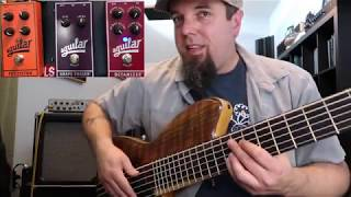 Aguilar Pedal Demo.  Checking out the Fuzzistor, Octamizer, and Grape Phaser!